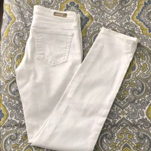 AG The Stilt Cigarette Leg white jeans. Size 26